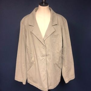 Eileen Fisher 1X khaki jacket